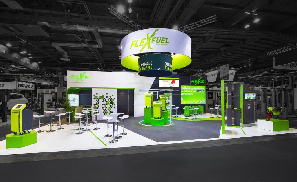 Stand de FlexFuel Energy Development au Salon Equip Auto 2019