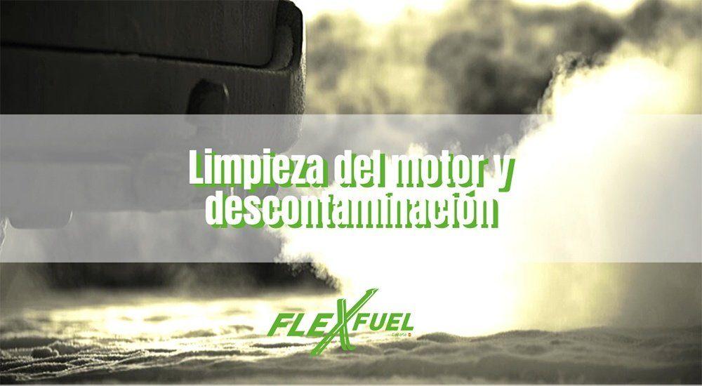 Limpieza del motor y descontaminación en talleres Flexfuel